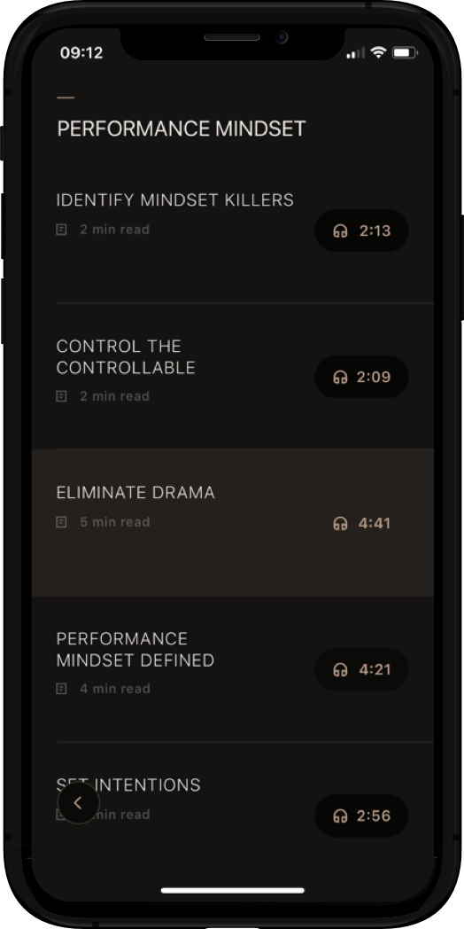 Performance Mindset library iPhone image